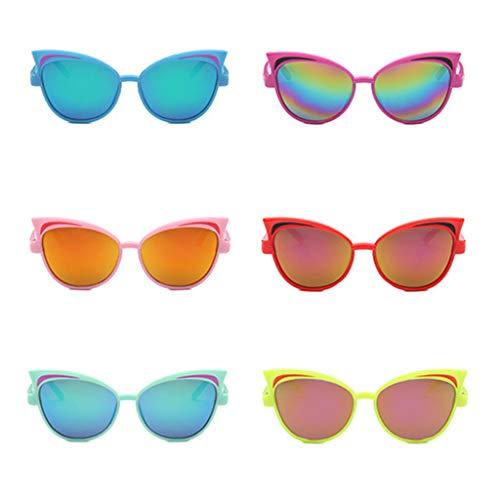 huiouer Niños Niños Gafas De Sol Reflexivo Color Aleatorio PC Moda UV400 Regalos Coloridos