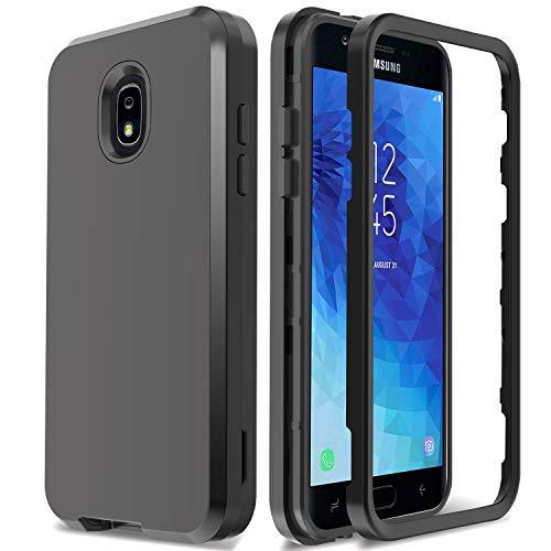 AMENQ Galaxy J3 Achieve Case, Galaxy J3 Star Case, Galaxy J3 2018 Case, Galaxy J3 Amp Prime 3 Case 3 in 1 Hybrid Heavy Duty Shockproof Hard PC TPU Bumper Protective Armor Phone Cover (Purple)