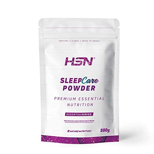 Sleep Care Powder de HSN   Polvo Infusiones Relajantes para Dormir   Calmante Natural 100% Natural   Triptofano + Melatonina + Magnesio + 5-HTP + Glicina + Teanina + GABA   Sabor a Té   500 g