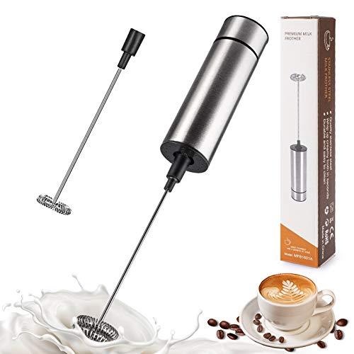 Elektrischer Milchaufschäumer, Tailiqi Handheld Milchschäumer für Kaffee/Latte/Cappuccino/Sahne/Macchiato/Eier Schlagen
