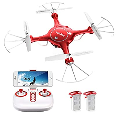 SYMA X5UW 4CH 6 Axis 2.4G With Camera RC Quadcopter LED Lighting One Key To Auto-Return Auto-Takeoff Headless Mode 360°Rolling