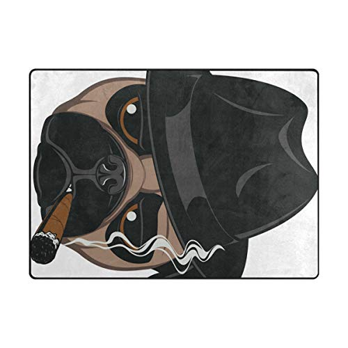 DEZIRO Tapis de Sol antidérapant pour extérieur Motif Carlin avec Cigare, Polyester, 1, 80 x 58 inch