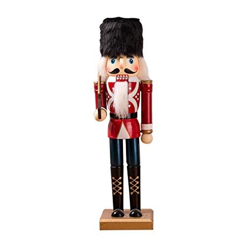 Maliyaw - Cascanueces, 38 cm, diseño de Cascanueces, Cascanueces, Cascanueces, Cascanueces, marioneta, para Regalo de año Nuevo, SB58224-1