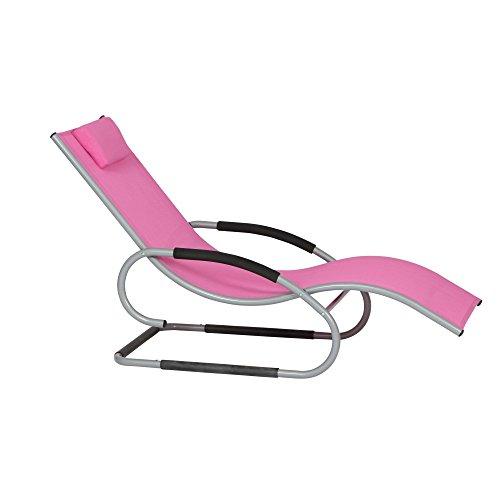 Siena Garden 268137 Swingliege Adria Aluminium-Gestell silber Ranotex®-Gewebe 2 * 1 pink Armlehnen gepolstert, mit Kopfteil