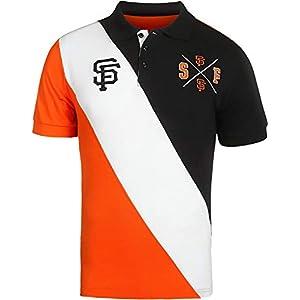 Klew San Francisco Giants MLB Baseball Men's Diagonal Stripe Polo Shirt