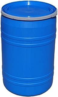 New 30 Gallon Plastic Drum Open Top Blue | Lever Lock Ring Top | Plain Top