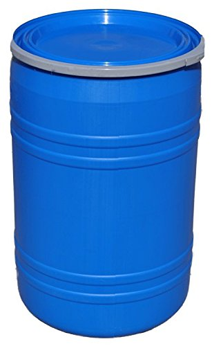 New 30 Gallon Plastic Drum Open Top Blue | Lever Lock Ring Top | Plain Top