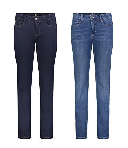 MAC Dream - 2er Pack Damen Jeans Hose Verschiedene Farbvarianten, Größe18:W42/L32, Farbe:D801+D569