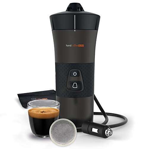Handpresso - Handpresso Handcoffee Auto 12V 48264 - Kaffeemaschine für das Auto, Tragbare Kaffeemaschine mit Senseo®-kompatible Pads, Reisen, Auto und Camping Kaffeemaschine (12 Volt + Zigarettenanzünder)