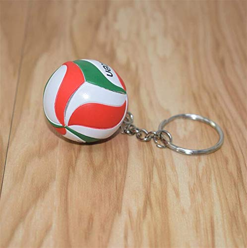 LKITYGF Perfect Key rings metal Metal Key Game Crossing jewelry Chain Ring for Men Gifts Souvenirs leather PVC volleyball keyring (Color : Blue)