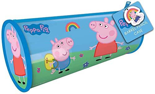 Peppa Pig Slim Barrel Pencil Case Kids School Stationery