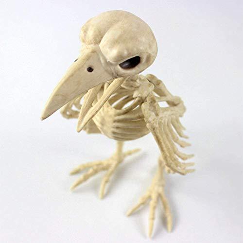 LBYLYH (Krähe Und Fisch) Halloween Horror Dekoration, Skelett Dekoration, Plastiktierskelett,Crow