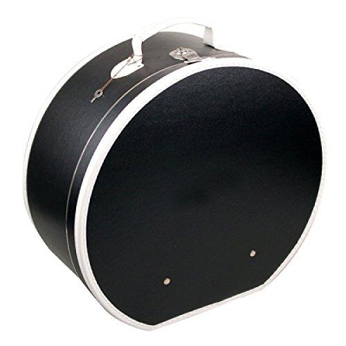 Hutschachtel Pappe schwarz mit weißer Borde ca. Ø 50 x 20 cm Hutkoffer Hutbox Hutaufbewahrung Hutschachte Hutkiste Hutkarton