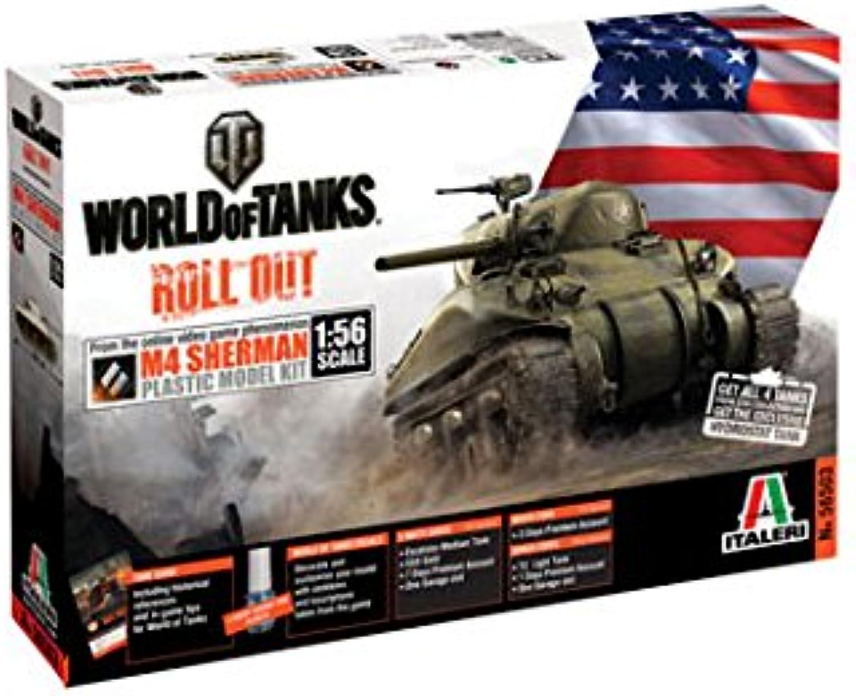 Italeri W56503 World of Tank Series  Sherman 1 56 Tank Model Kit