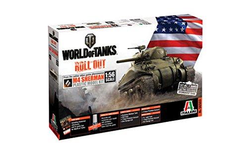 Italeri 56503 - World Of Tanks M4 Sherman Model Kit Scala 1:56
