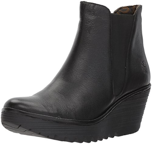 Fly London Damen Yoss Schlupfstiefel, Schwarz (Black 000), 38 EU