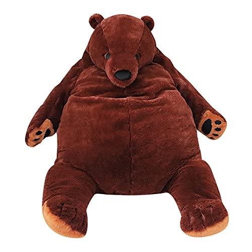 KXCAQ 100cm Animal de Peluche Gigante Big Brown Bear Peluches Juguetes Oso Cojín Almohada para niños Niños 100cm Aspicture