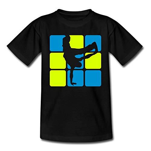 Breakdance Breakdancer Silhouette Teenager T-Shirt, 152-164, Schwarz