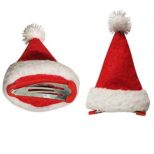 SSITG 6 stuks Mini Santa hoed Kerstmis kostuum accessoires kerstman kerstfeest