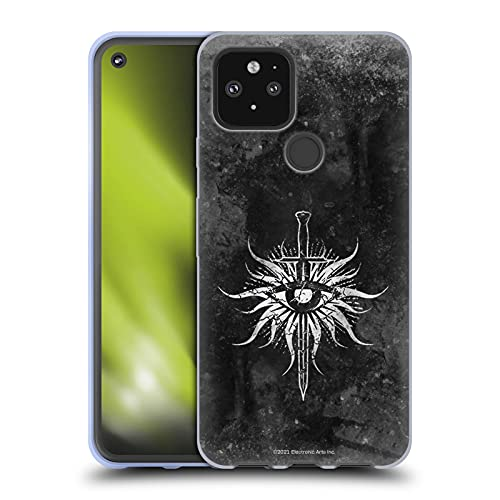 Head Case Designs Officially Licensed EA Bioware Dragon Age Inquisition Distressed Origins Heraldry Soft Gel Case Compatible with Google Pixel 5 5G