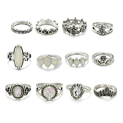 AmDxD Damen - Versilbert Ovalschliff White Opal