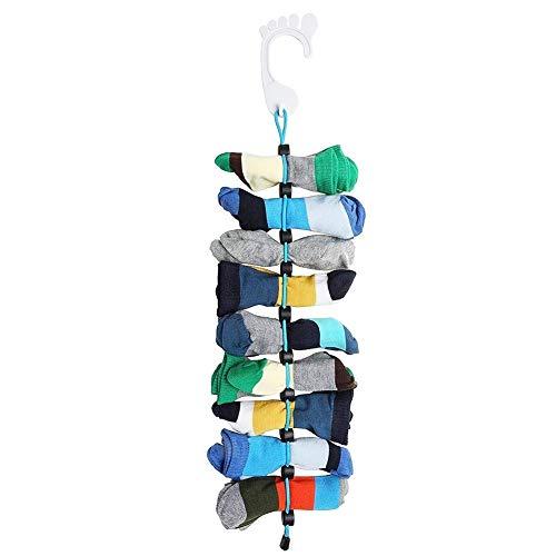 WSGQLT calzino organizer, easy clip & serrature calzini in coppia calzini senza lacci, divisori per borse o laundry-, lavaggio, Store e mai perdere ancora