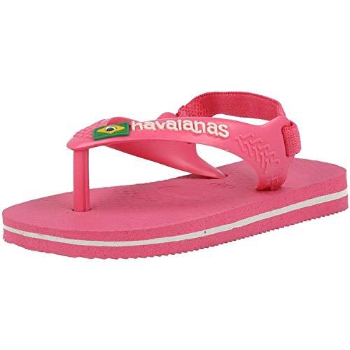 Havaianas Baby Brasil Logo II, Infradito Unisex-Bambini, Rosa (Shocking Pink), 20 EU