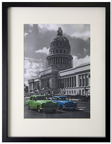 BD ART 30x40 cm Dokument, Zertifikat, MDF Bilderrahmen mit Passepartout 21x30 cm (A4), SCHWARZ