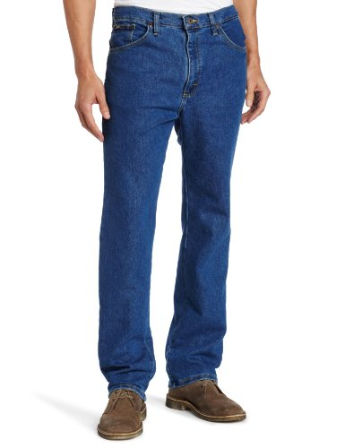 Lee Men's Regular Fit Straight Leg Jean, Pepper Wash Stretch, 36W x 32L