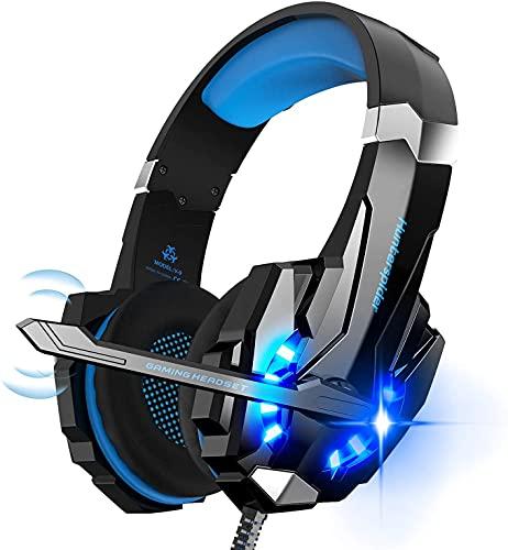 Hunterspider Auriculares de Diadema para Videojuegos con micrófono, 3.5mm Jack con...