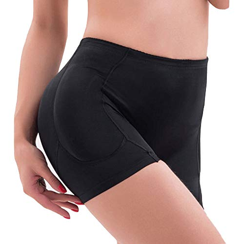 KOCLES Women Hips and Butt Lifter, 4 Removable Pads Enhancer Panties Shapewear Underwear, Black, US 10 / 12 (Fit US L, Tag 3XL)
