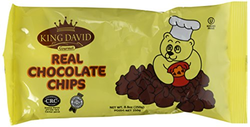 King David Kosher Non-dairy Vegan Lactose Free Dark Chocolate Chips 8.8 ounce/250grams (Pack of 4)