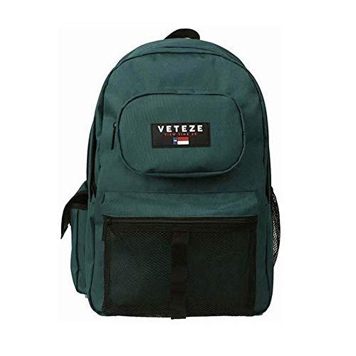 [ベテゼ] VETEZE Retro Sports Backpack 男女共用 メッシュ バックパック [並行輸入品] (グリーン)