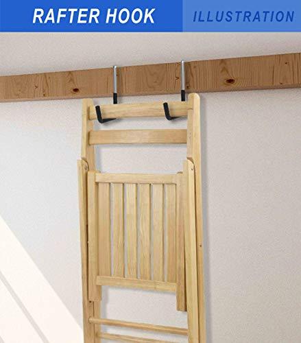 POETISKE Rafter Hook Ladder Bike Hanger Garage Storage Organizer Vinyl Coated Black 4PACK