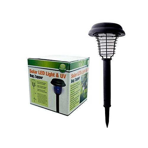 "Kole Imports OC277 Source Solar LED Light and UV Bug Zapper, 6"", Black"