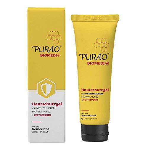 Purao Natürliches Medizinische Manuka Honig Lippenbalsam Lippenpflege und Körperbalsam für trockene haut kleinere-Hautprobleme-Erste Hilfe-40ml