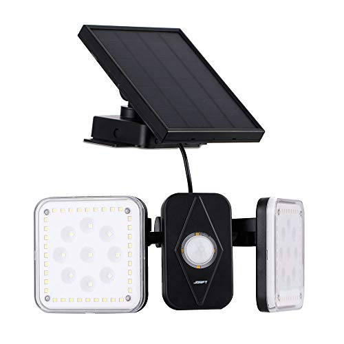 センサーライト、Jorft ソーラーライト 94LED 人感センサー 2つのモード 20時間の照明 屋外照明 防犯 防水 自動点灯 太陽光発電 屋外/駐車場/玄関/廊下/軒先/庭/ガーデン 3mケーブル付き