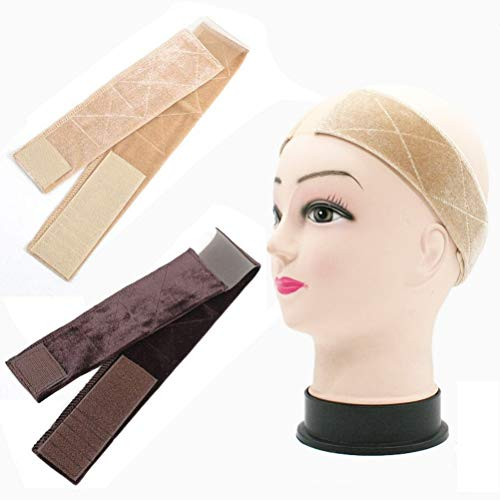 Dreamlover Elastic Wig Grip Headband Adjustable Thin Velour Wig Scarf Hat Grip Band Black