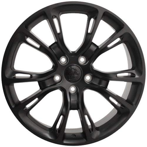 OE Wheels LLC 20 inch Rim Fits Jeep SRT8 Spider Monkey Wheel JP16 20x8.5 Black Wheel Hollander 9113