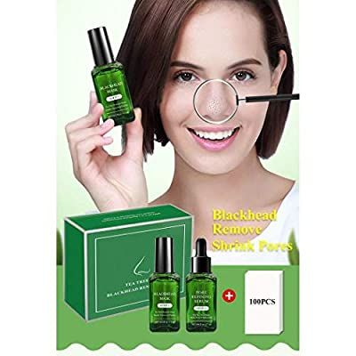 BREYLEE Natural Tea Tree Extract Moisturising Rejuvenating Masks Whitehead Blackhead Mask Pore Refining Serum Set