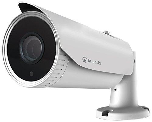 Atlantis Ultraplex 850S-BPVM Telecamera 2 Mpixel, sensore Starvis per immagini a colori anche con scarsa luminosità, Varifocale, Poe, Motorizzata, Onvif, Bullet, Bianco