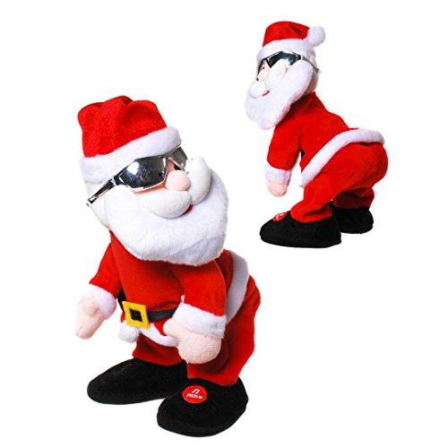 Tanzender Weihnachtsmann mit Musik, Nikolaus, Santa