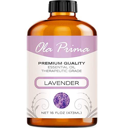 Ola Prima 16oz - Premium Quality Lavender Essential Oil (16 Ounce Bottle) Therapeutic Grade Lavender...