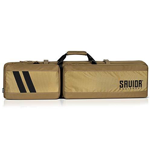 "Savior Equipment Specialist Series 51"" 55"" Discreet Tactical Long Range Precision Sniper Rifle Bag Firearm Soft Case, Scope Cover, Backpack & Shoulder Strap, Lockable Zipper, w/ 2 MOLLE Pouches"