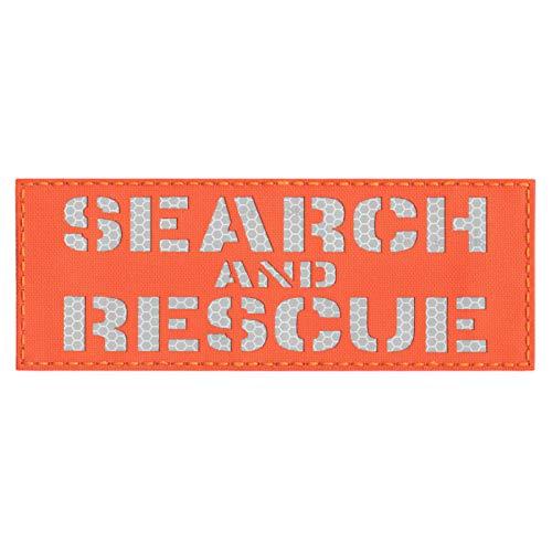 Hoge zichtbaarheid 3x8 SAR zoeken en redden Blaze Oranje 3M SOLAS Honingraat Hi Viz Plate Carrier Tactische Bevestigingspatch