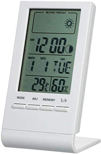 Uhr Mini-Digitalthermometer HLWCrometer Innentemperatur Wetterstation Prognose Maximale HLWCrometer Uhr Und Minimale Anzeige