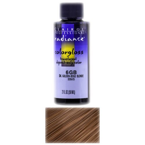 Radiance Colorgloss Semi-Permanent Hair Color 6GB Dark Golden Beige Blonde by Clairol