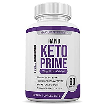 Rapid Keto Prime - Advanced Ketosis Blend - 60 Capsules - 800MG Per Serving - 1 Month Supply