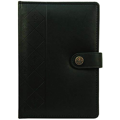 C.R. Gibson Debossed Italian Leatherette Journal with Ruled Pages, 256 Pages