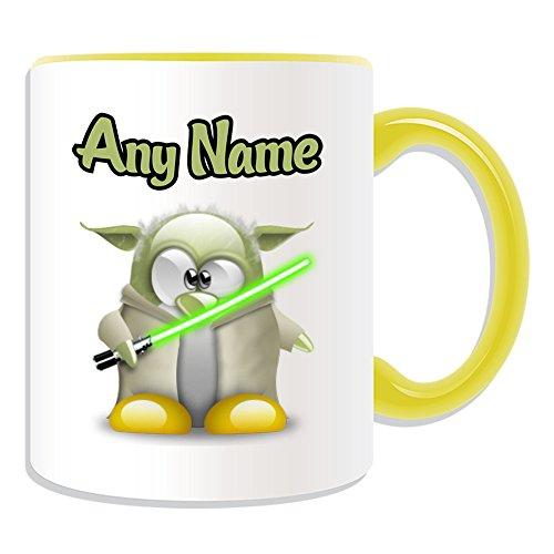 Taza de regalo personalizable, diseño de personajes de película de pingüino, opciones...